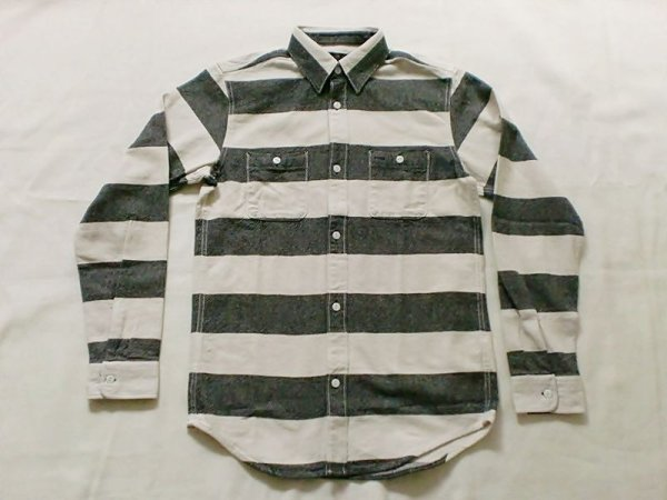 "画像1: VINTAGE EL""Heavy Flannel Prison Border Work Shirt"" (1)"