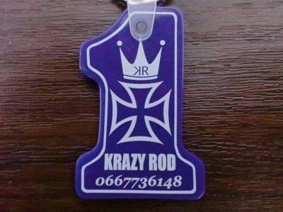 """画像1: KRAZY ROD""""CROWN"""" RUBBER KEYHOLDER"""