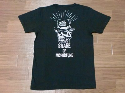 "画像1: KRAZY ROD ""MISFORTUNE""HARD WASH BINDER NECK Tee"