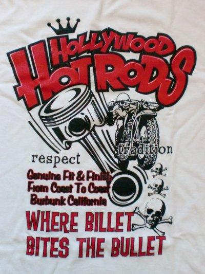 """画像2: Hollywood Hot Rods""""PISTON""""Tee"""