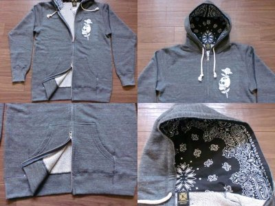 "画像2: KRAZY ROD""SKULL ROSE""FULL ZIP PARKA"