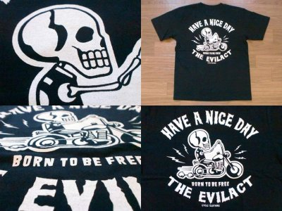 """画像3: EVILACT""""Skull Biker""""6.2oz Tee"""