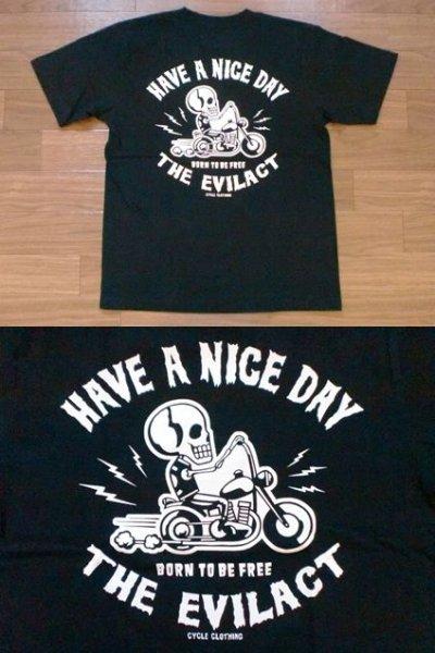 """画像2: EVILACT""""Skull Biker""""6.2oz Tee"""