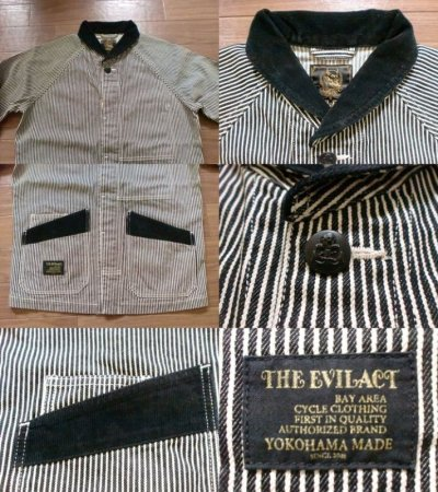 "画像1: EVILACT""Shawl collar coverall / no printing"""