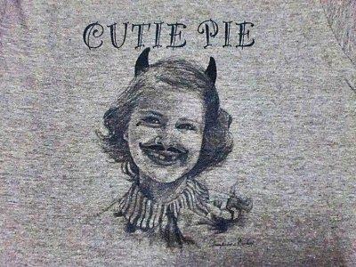"""画像1: EVILACT""""CUTIE PIE""""4.4oz Tri-blend Tee"""