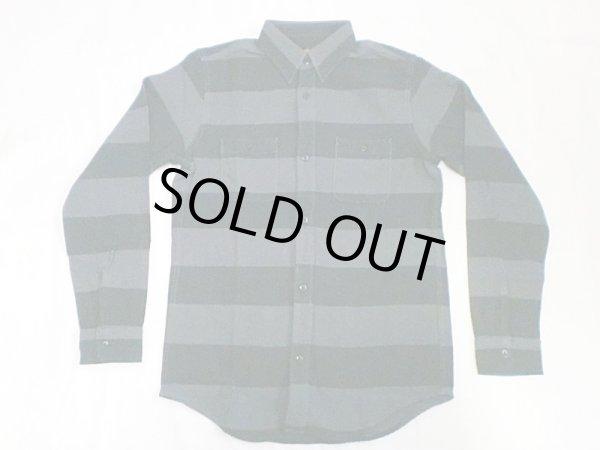 """画像1: VINTAGE EL""""Heavy Flannel Prison Border Work Shirt"""" (1)"""