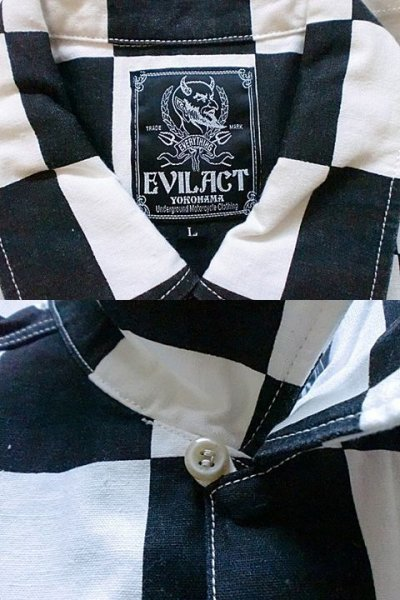 "画像2: EVILACT""Checker shirt's L/S"""