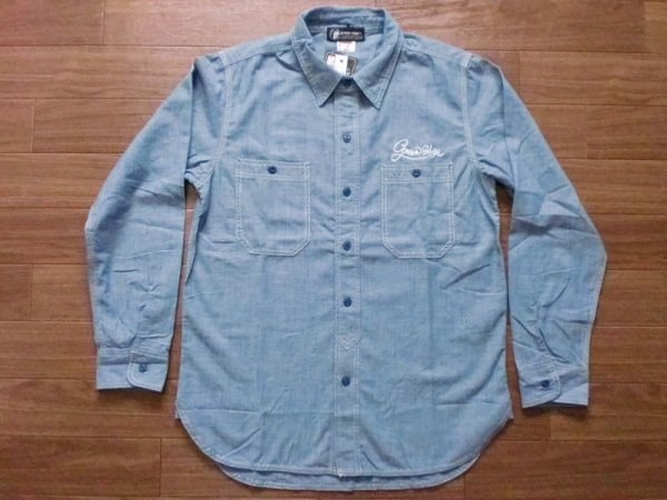 "画像1: GREEN EDGE""CHAMBRAY SHIRT"" (1)"